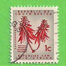 Sellos: SUDÁFRICA - MICHEL 328A - YVERT 283A (283) - FLORA. (1967).. Lote 219187991