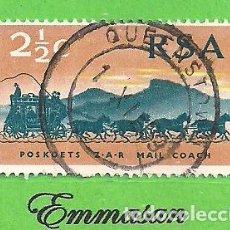 Sellos: SUDÁFRICA - MICHEL 384 - YVERT 322 - CENT. DE LOS 1º SELLOS DE LA REPÚBLICA SUDAFRICANA. (1969).. Lote 219189718