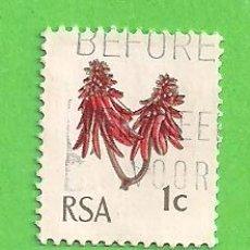 Sellos: SUDÁFRICA - MICHEL 379C - YVERT 317 - FLORA. (1969).. Lote 219190865