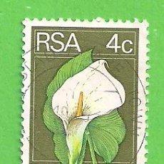 Sellos: SUDÁFRICA - MICHEL 450 - YVERT 362 - FLORA - CALLA LILY. (1974).. Lote 219192195