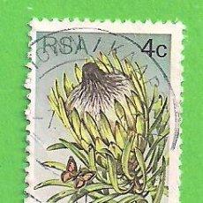 Sellos: SUDÁFRICA - MICHEL 515A - YVERT 419 - FLORA - PROTEA LONGIFOLIA. (1977).. Lote 219193152