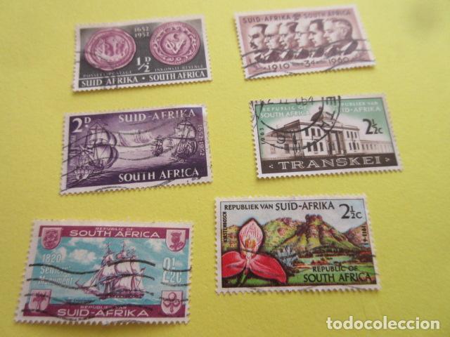 LOTE 6 SELLOS SUDAFRICA SUID AFRIKA SOUTH AFRICA (Sellos - Extranjero - África - Sudáfrica)