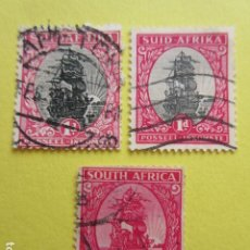 Sellos: LOTE 3 SELLOS SUDAFRICA SUID AFRIKA SOUTH AFRICA ZUID UNION. Lote 220651718