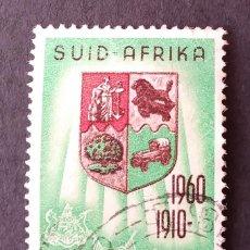 """Sellos: 1961 SUDÁFRICA SERIE 1960 """"50 ANIVERSARIO DE LA UNIÓN DE SUDÁFRICA"""". Lote 221377951"""
