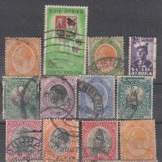 Timbres: SUDAFRICA. CONJUNTO DE 18 SELLOS USADOS. CALIDADES DIVERSAS.. Lote 225884875