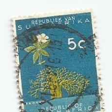 Sellos: SELLO USADO DE SUDAFRICA DE 1961- BAOBAB - YVERT 254- VALOR 5 CENTIMOS- VARIANTE. Lote 232864370