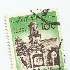 Sellos: SELLO USADO DE SUDAFRICA DE 1961- CASTILLO DE CIUDAD DEL CABO- YVERT 256- VALOR 10 CENTIMOS-. Lote 232866565