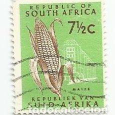 Sellos: SELLO USADO DE SUDAFRICA DE 1966- MAZORCA - YVERT 286- VALOR 7 Y 1/2 CENTIMOS- VARIANTE. Lote 232870800