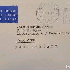 Sellos: O) 1971 SUDÁFRICA, INDUSTRIA, CORREO AÉREO LUGPOS, A SUIZA, XF. Lote 238700380
