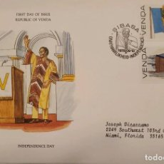 Sellos: O) 1979 SUDÁFRICA - VENDA, INDEPENDENCIA DE SUDÁFRICA, EDIFICIO ADMINISTRATIVO, FDC USADO EN EE. UU.. Lote 238711505