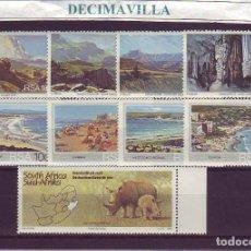 Sellos: LOTE542, SUDAFRICA, TRES SERIES DE LOS AÑOS 1978, 1983 Y 1985, 453/56, 543/46, 870. Lote 241013765