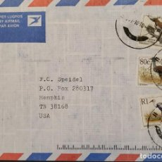 Sellos: O) 1997 SUDÁFRICA, PÁJARO DE PRESA - ÁGUILA POLEMAETUS, OTIS KORI, GRUS CARUN, PER LUGPOS A EE. UU.. Lote 242019070