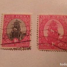 Sellos: 2 SELLOS SUDAFRICA DE 1D. SELLADOS. Lote 244521700