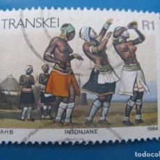 Sellos: -AFRICA DEL SUR, TRANSKEI, 1984, LA VIDA EN TRANSKEI, YVERT 157. Lote 244692975