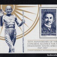 Sellos: SUDAFRICA HB 52** - AÑO 1997 - 50º ANIVERSARIO DE LA ALIANZA POR UNA SUDAFRICA DEMOCRATICA - GANDHI. Lote 269748818