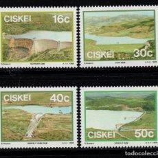 Sellos: CISKEI 149/52** - AÑO 1989 - GRANDES PRESAS. Lote 253561200