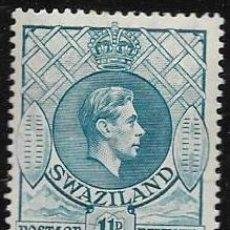 Sellos: SWAZILAND YVERT 29 NUEVO CON GOMA Y CHARNELA. Lote 256031175