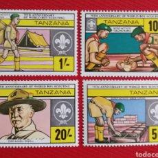Sellos: TANZANIA, 75 ANIVERSARIO DEL MOVIMIENTO SCOUT 1982 (FOTOGRAFÍA REAL). Lote 257293180