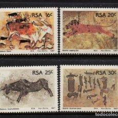 Sellos: SUDAFRICA 623/26** - AÑO 1987 - ARQUEOLOGIA - PINTURAS RUPESTRES. Lote 257323395