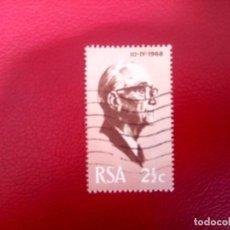 Sellos: SUDÁFRICA 1968, JACOBUS JOHANES FOUCHÉ, YT 311. Lote 260465075