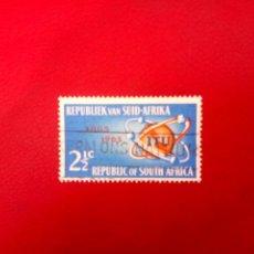 Sellos: SUDÁFRICA 1965, CENTENARIO DE LA UIT, YT 294. Lote 260465255