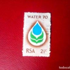 Sellos: SUDÁFRICA 1970, AÑI INTERNACIONAL DEL AGUA, YT 324. Lote 260465600