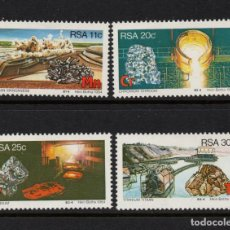 Sellos: SUDAFRICA 552/55** - AÑO 1984 - RECURSOS DE MINERALES ESTRATEGICOS. Lote 261616815