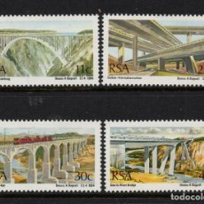 Sellos: SUDAFRICA 565/68** - AÑO 1984 - ARQUITECTURA - PUENTES. Lote 261616980
