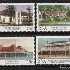 Sellos: SUDAFRICA 606/09** - AÑO 1986 - ARQUITECTURA - EDIFICIOS RESTAURADOS. Lote 261617665