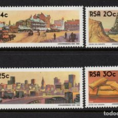 Sellos: SUDAFRICA 610/13** - AÑO 1986 - CENTENARIO DE JOHANNESBURGO - MINAS DE ORO. Lote 261618055