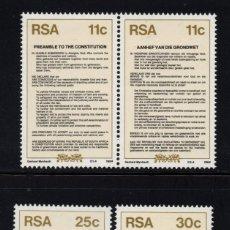 Sellos: SUDAFRICA 569/72** - AÑO 1984 - NUEVA CONSTITUCION. Lote 262261990