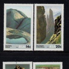 Sellos: SUDAFRICA 614/17** - AÑO 1986 - BELLEZAS DE LA NATURALEZA - PAISAJES. Lote 262262235