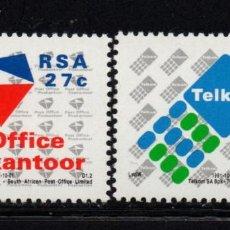 Sellos: SUDAFRICA 740/41** - AÑO 1991 - PRIVATIZACION DE CORREOS Y TELECOMUNICACIONES. Lote 262263035