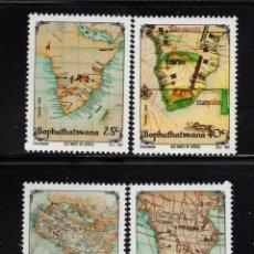 Sellos: BOPHUTHATSWANA 269/72** - AÑO 1991 - MAPAS ANTIGUOS DE AFRICA. Lote 262265610