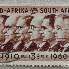 Sellos: 1960. SUDÁFRICA. 229. ROSTROS DE LOS PRIMEROS MINISTROS SUDAFRICANOS DESDE 1910. USADO.. Lote 262578250