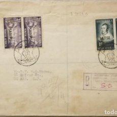Sellos: O) 1952 SUDÁFRICA, SADIPÚ SOBREIMPRESO, JAN VAN RIEBEEK ATR EL CABO DE GOOG HOPE, MARIA DE LA QUELLE. Lote 266174423