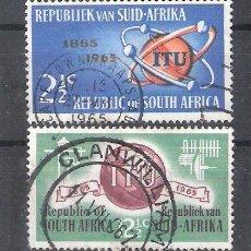 Sellos: REPÚBLICA SUDAFRICANA Nº 294/295º CENTENARIO DE LA UIT. SERIE COMPLETA. Lote 266346398