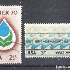 Sellos: REPÚBLICA SUDAFRICANA Nº 324/325º AÑO INTERNACIONAL DEL AGUA. SERIE COMPLETA. Lote 266346478