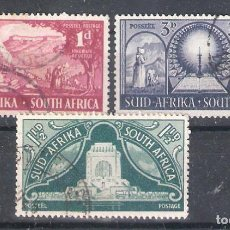 Sellos: REPÚBLICA SUDAFRICANA Nº 179/181º MONUMENTO EN MEMORIA DE LOS PIONEROS. SERIE COMPLETA. Lote 268920949