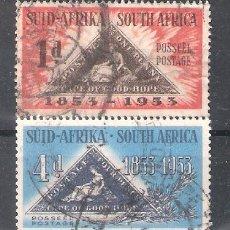 Sellos: REPÚBLICA SUDAFRICANA Nº 194/195º CENTENARIO DE LOS SELLOS TRIANGULARES DE EL CABO. SERIE COMPLETA. Lote 268921004