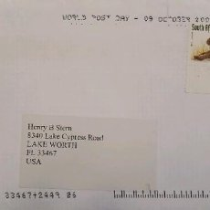 Sellos: O) 2002 SUDÁFRICA, NATAL PIGMY KINGFISHER, SPOTTED HYENA, CIRCULADO A EE. UU.. Lote 275340978