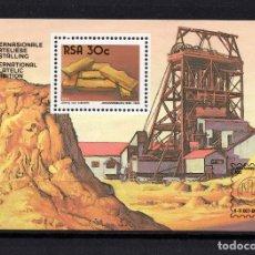 Sellos: SUDAFRICA HB 18** - AÑO 1986 - CENTENARIO DE JOHANNESBURGO - MINAS DE ORO. Lote 277508523