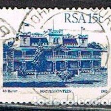 Sellos: SUDAFRICA Nº 650, MATJESFONTEIN, LA ARQUITECTURA EN SUDAFRICA, USADO. Lote 288397078