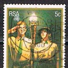 Sellos: SUDAFRICA Nº 615, 50 ° ANIVERSARIO DEL MOVIMIENTO VOORTREKKER (ORGANIZACIÓN JUVENIL) USADO. Lote 288397423