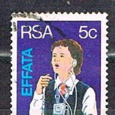 Sellos: SUDAFRICA Nº 608, CENTENARIO DE LOS INSTITUTOS PARA SORDOS Y CIEGOS DE WORCESTER, USADO. Lote 288397848