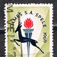 Sellos: SUDAFRICA Nº 379, JUEGOS DEPORTIVOS SUDAFRICANOS, USADO. Lote 288398263