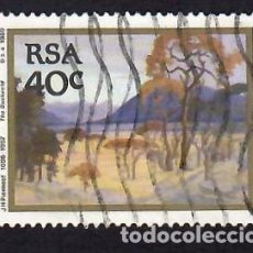 Selos: SUDÁFRICA (1989). PINTURA DE JACOB HENDRIK PIERNEEF. YVERT Nº 698. USADO.. Lote 289748448