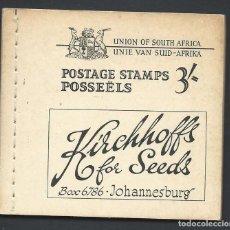 Sellos: AFRIQUE DU SUD CARNET DE 3/- COMPLET NEUF ** (MNH) 1948. Lote 289786073