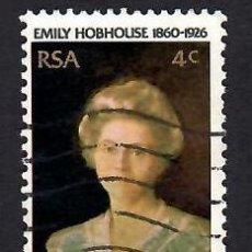Selos: SUDÁFRICA (1976). 50 ANIV. MUERTE DE LA ACTIVISTA Y PACIFISTA EMILY HOBHOUSE. YVERT Nº 409. USADO.. Lote 293913743