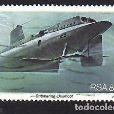 Selos: SUDÁFRICA (1982). 25 ANIVERSARIO DE LA BASE NAVAL DE SIMONSTOWN: SUBMARINO. YVERT Nº 502. USADO.. Lote 293915523